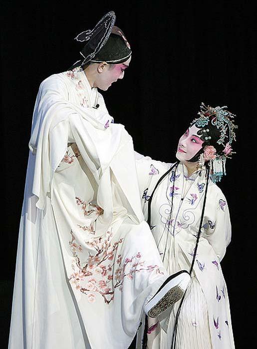 Kunqu performance at the Peking University, Tang's play 'The Peony Pavilion.'