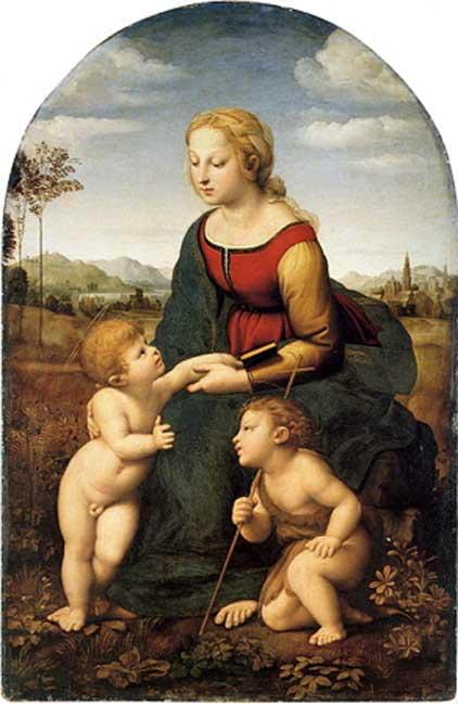 La belle jardinière (1507) by Raphael.