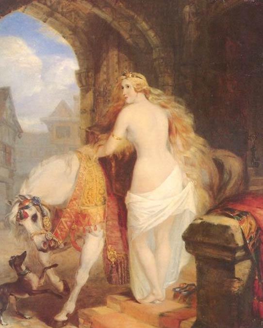 'Lady Godiva' (1850) by Marshall Claxton.