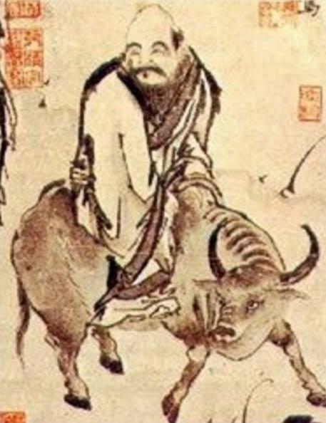 Según la leyenda china, Laozi (Lao Tse) salió de China para el oeste en un búfalo de agua.