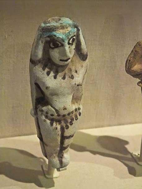 A Late Bronze Age female figurine.