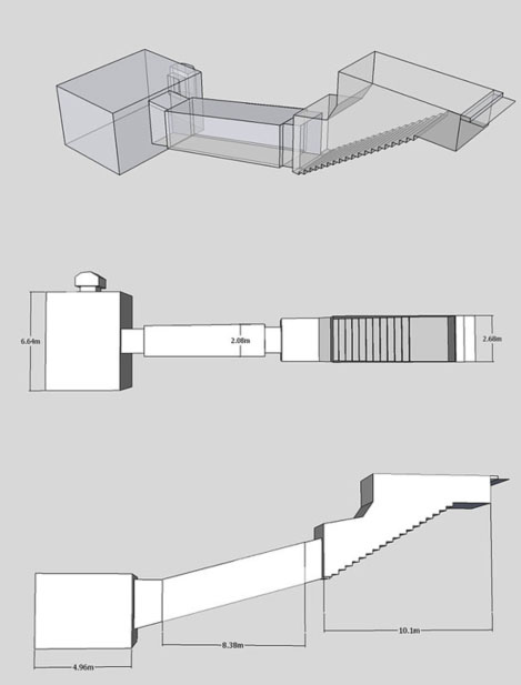 Layout of Tomb KV55.
