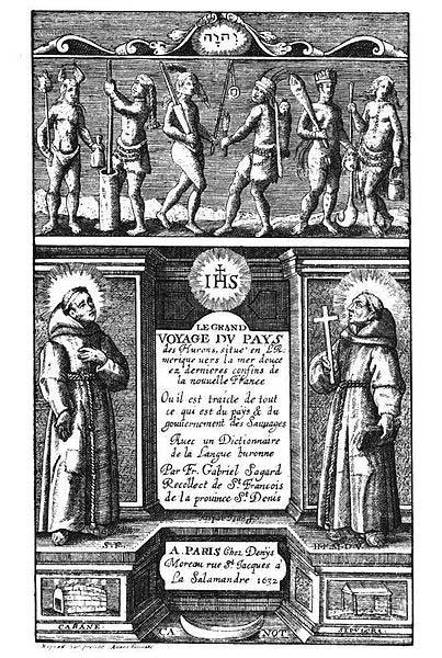 'Le Grand Voyage du Pays des Hurons' (1632) by Gabriel Sagard. (Public Domain)