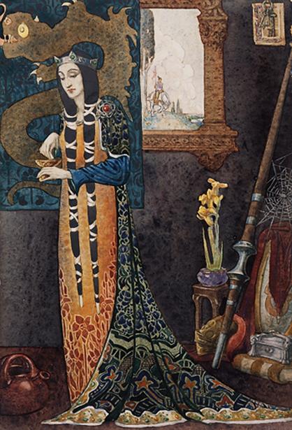 """Morgan le Fay,"" by Christian Waller (1920)."