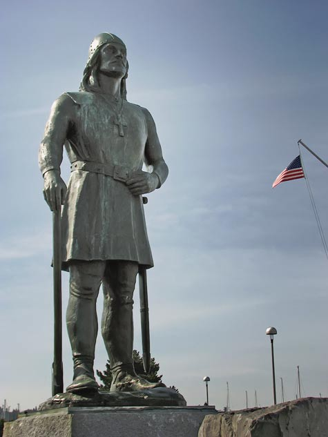 Leif Erikson memorial statue at Shilshole Bay Marina (Port of Seattle)
