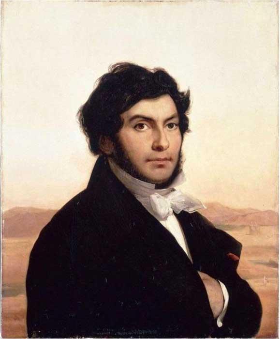 Leon Cogniet's portrait of Jean-Francois Champollion (Public Domain)