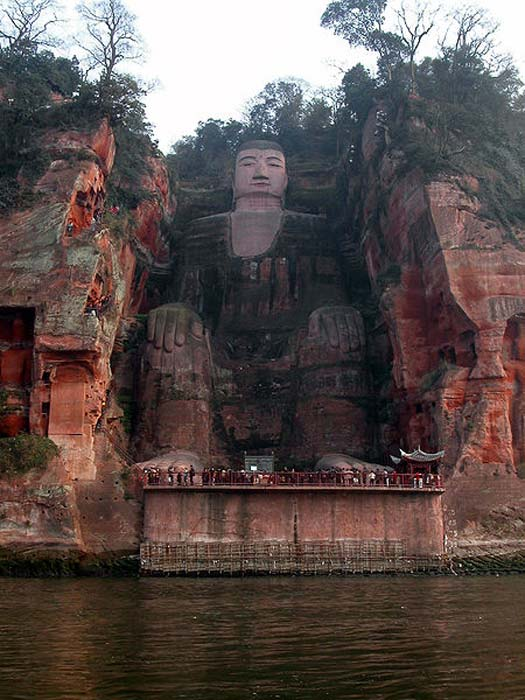 The Leshan giant Buddha.