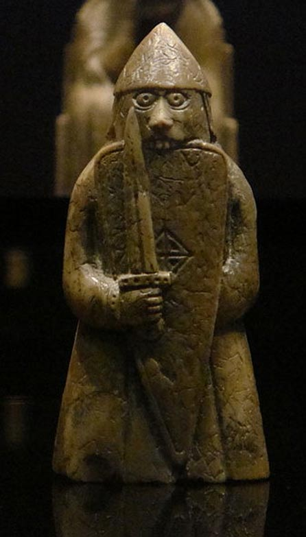 A rook gaming piece from the Lewis chessmen se