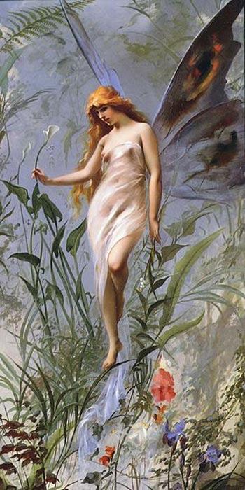 'Lily Fairy' (1888) by Luis Ricardo Falero.