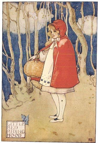 """Little Red Riding Hood"" from ""Childhood's Favorites and Fairy Stories."""