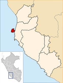 Location of the Paracas Peninsula - Peru