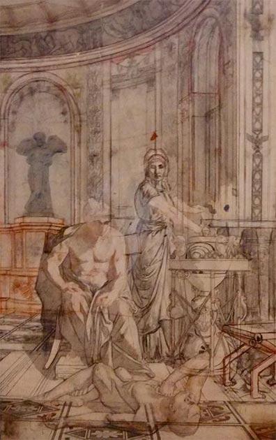 Locusta testing poison on a slave in front of Nero. (Sébastopol76/CC BY SA 4.0)