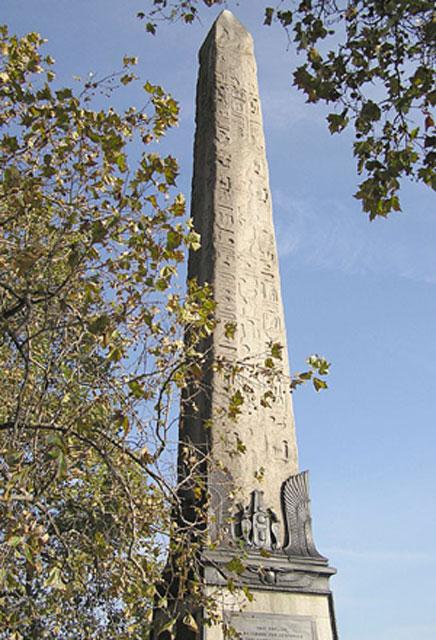 Close up of London's Cleopatra's Needle
