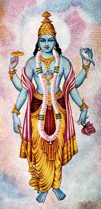 Lord Vishnu, powerful partner of Lakshmi. (Ramanarayanadatta astri / Public domain)