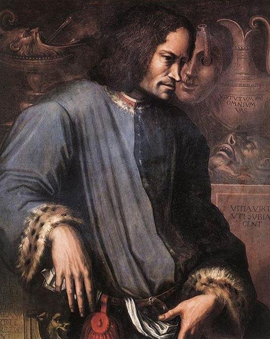 A posthumous portrait of Lorenzo de' Medici. (Giorgio Vasari)