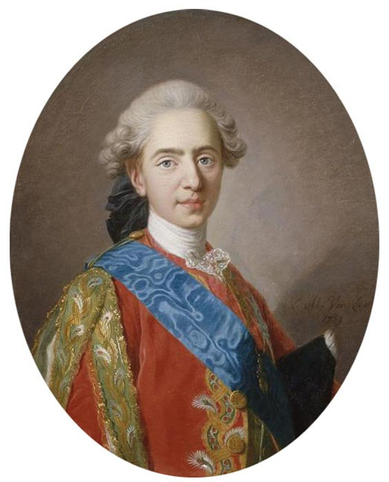 Louis Auguste as Dauphin of France, by Louis-Michel Van Loo (1769).