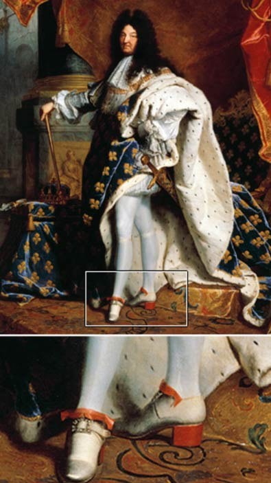 Louis XIV wearing his trademark heels