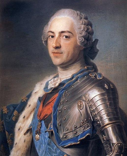 Louis XV by Maurice-Quentin de La Tour (1748) Louvre Museum (Public Domain)