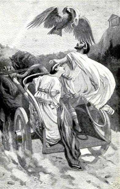 Lucius Tarquinius Priscus and the eagle.