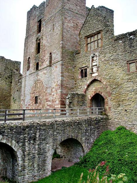 Ludlow Castle, a gift from Henry VIII to his daughter Mary for her ninth birthday.