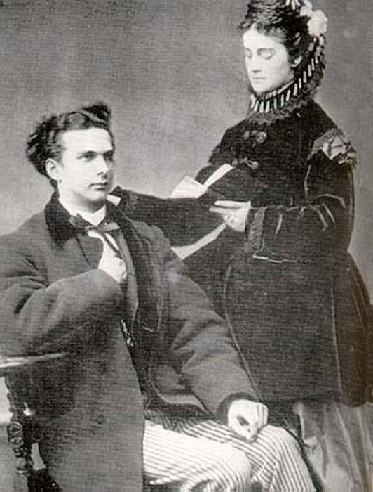 Ludwig II and Sophie of Bavaria.