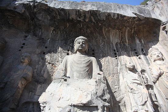 The Lushena Buddha at the Longmen Grottoes