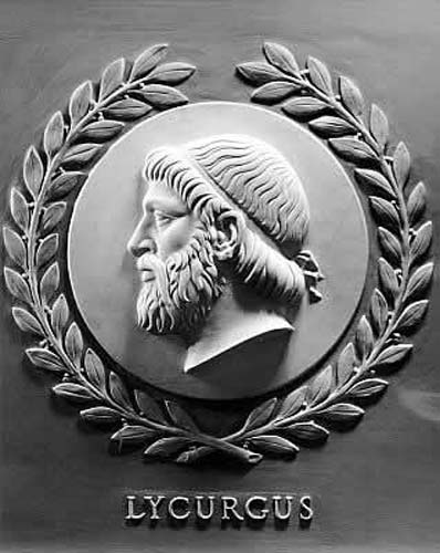 The Spartan philosopher Lycurgus