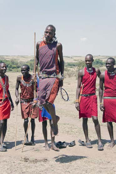 Maasai warriors had purification rituals.