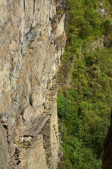 Machu Picchu is situated in a hard to access region of Peru.
