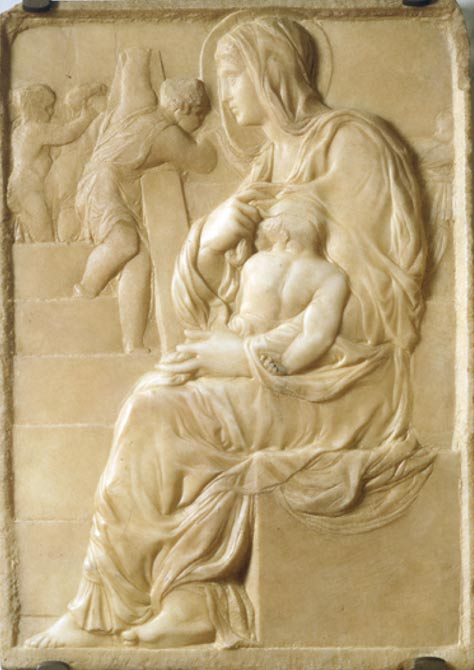 Madonna della scala (circa 1492) by Michelangelo. Casa Buonarotti, Florence, Italy.