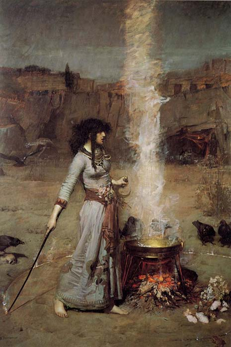 Magic Circle by John William Waterhouse, 1886.