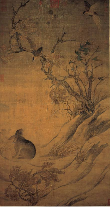 Magpies and Hare, by Cui Bai of the 10th century AD; according to legend, an ancestor of Emperor Yao invented silk.