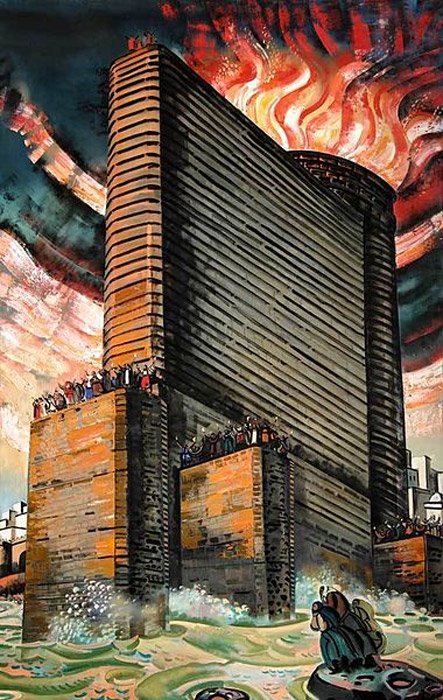 Maiden Tower, painting, Tahir salahov.