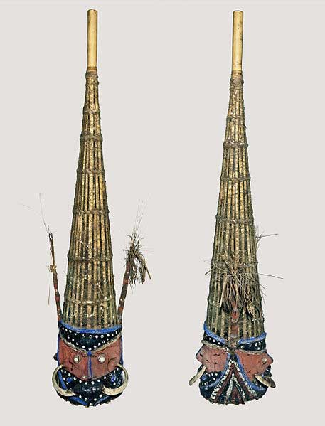 Malakulan ceremonial mask including spider web as a base.