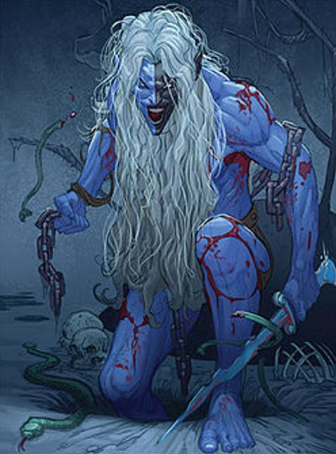 An artist's depiction of Malekith the Accursed, ruler of the Dark Elves of Svartalfheim.