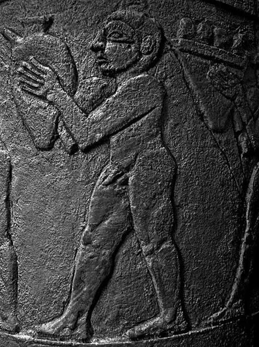 Man depicted on Uruk vase, Pergamon Museum