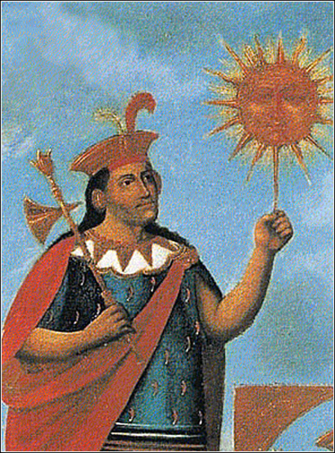 Manco Capac, detail of 'Genealogy of the Incas'