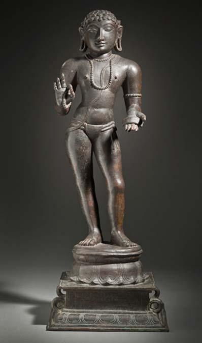Manikkavacakar, Minister of Pandya king Varagunavarman II (c. 862 – 885). (Public Domain)