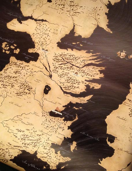 Map of Continents - Game of Thrones (Alan Parkinson/Flickr)