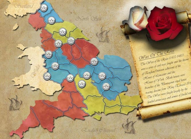 Map of the War of the Roses (Sillysoft.net)