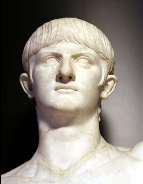 Marble busts of emperor Nero, circa 54/59 AD.