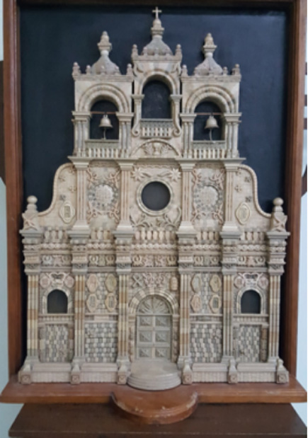 A Marble replica of the church.