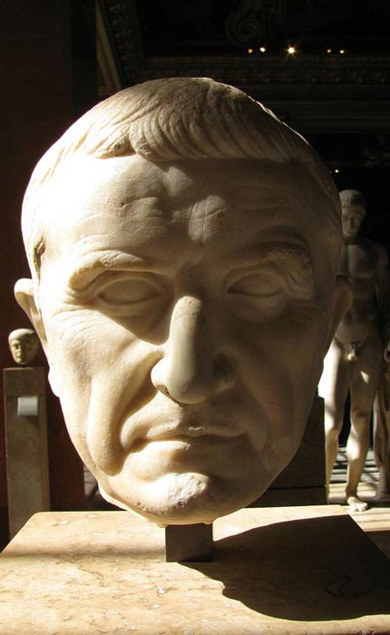 Bust of Marcus Licinius Crassus.