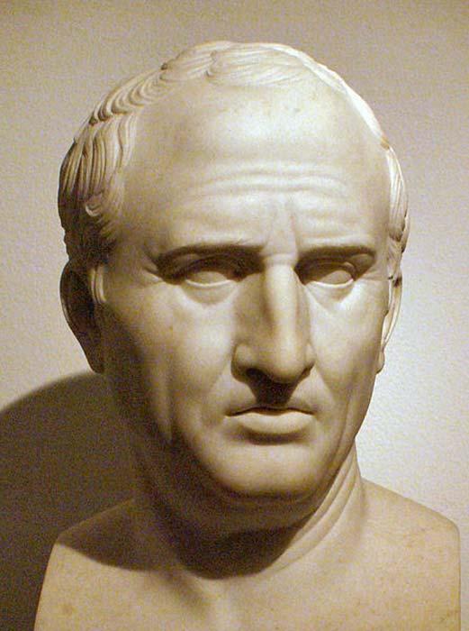 Marcus Tullius Cicero, by Bertel Thorvaldsen as copy from roman original, in Thorvaldsens Museum, Copenhagen.