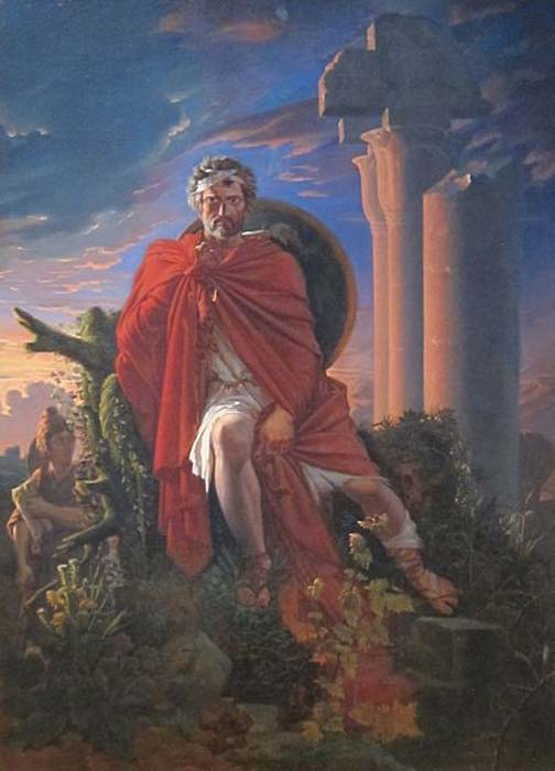 'Marius Meditating on the Ruins of Carthage' (1807) by Pierre-Nolasque Bergeret.