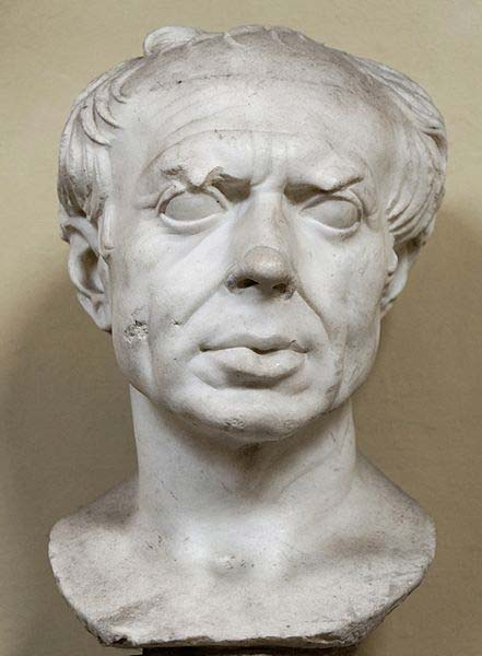 "So-called ""Marius"". Marble, Roman artwork of the 1st century BC, restored by Alexander Trippel."