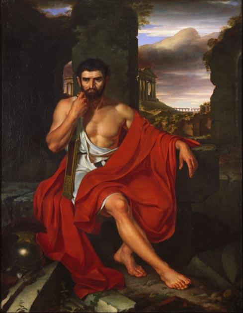 Marius, Julius Caesar's uncle, amid the ruins of Carthage. (DcoetzeeBot / Public Domain)