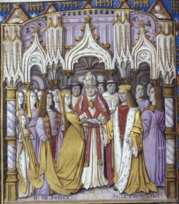 Marriage of Henry V of England to Catherine. (enwiki / Public Domain)