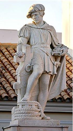 Statue of Martín Alonso Pinzón, in Palos de la Frontera.