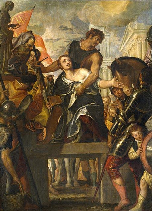 Martyrdom of Saint Menas. (c. 1580) By Paolo Veronese